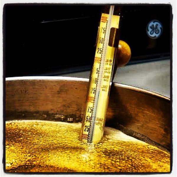 Right tool = Perfect maple taffy. #miltonvt #btv #vt