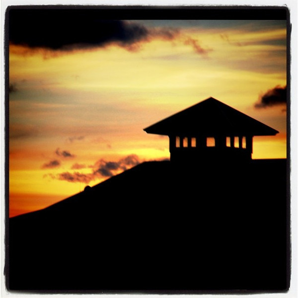 #Silhouette of the #Burlington Boat House at #sunset. #btv #VT #architecture