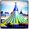 Cirque du Soleil in Old Montreal. #circus #abstract #city #Montreal #Quebec