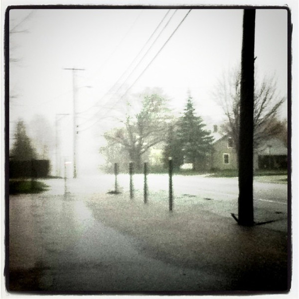Flooded road in #Milton #VT.