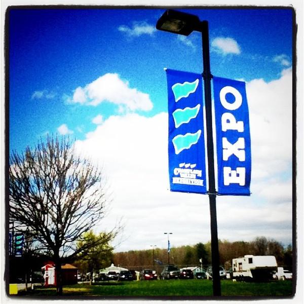 Blue sky, blue sign. #expo #btv #VT #sign #sky #cve