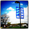 Blue sky, blue sign. #expo #btv #VT #sign #sky #cve