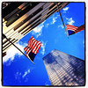 They fly high in #NYC. #flags #patriotism #architecture
