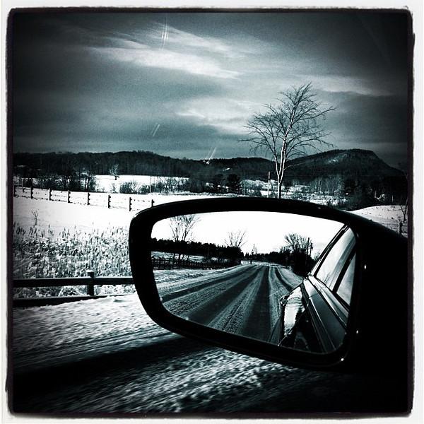Black & White like the season. #btv #milton #vt