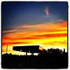 Sunset at Middle Rd Market. #miltonvt #vt