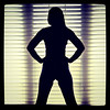 She is gorgeous even in silhouette.