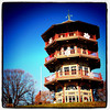The leaning pagoda. #Baltimore #Maryland #park #pagoda #Asian #architecture