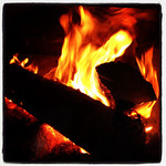 Toss another log in. #fireplace