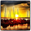 Sleepy Boats with #btv #sunset