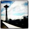 Space Needle in #Seattle. #landmark #architecture #spaceneedle #keyarena #tourist