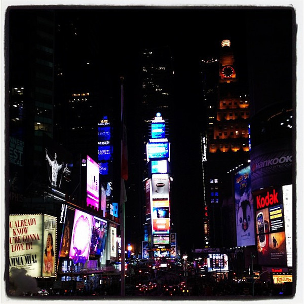 Times Square, never a dark moment. #nyc