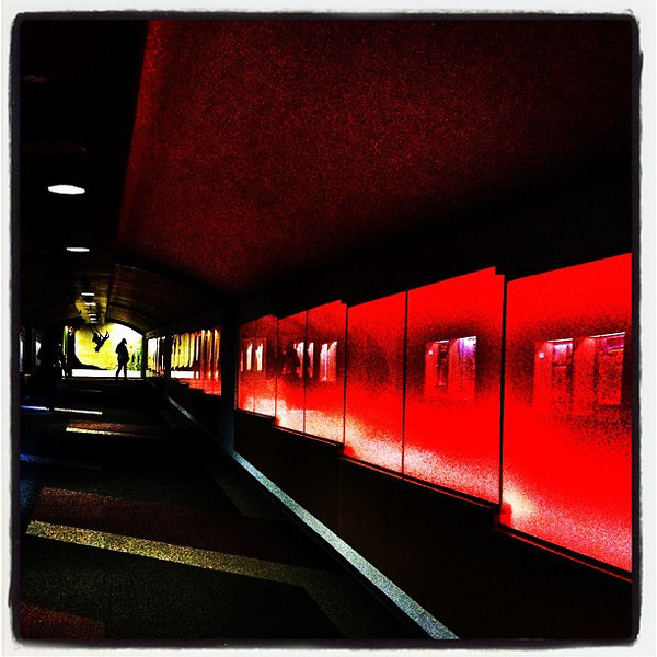 Tunnel of Red. #btv #vt