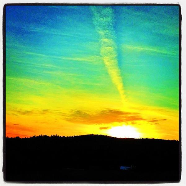 Milton #VT sunrise.