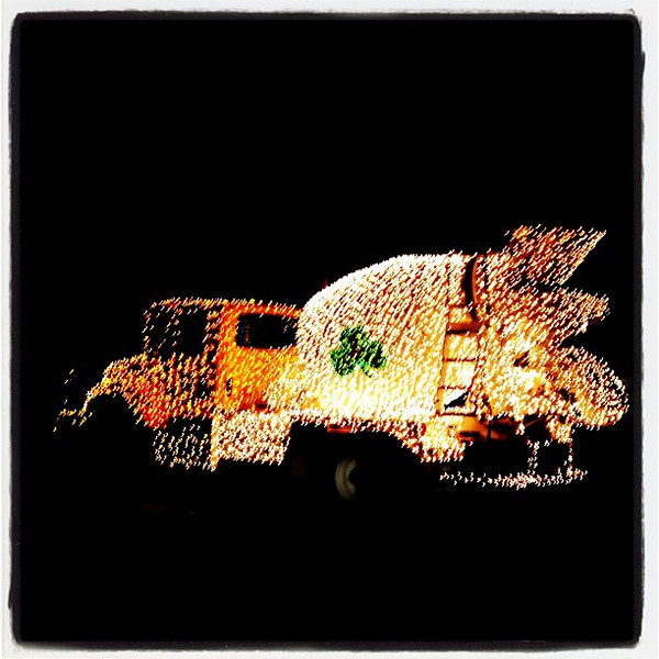 Only in Vermont. Lighted cement truck. #btv #vt