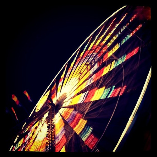 Ferris Wheel lit up! #btv #vt #fair