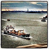 #NYC Harbor. Statue of Liberty in the distance.