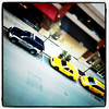 Taxis at the #Redmond Town Center, as seen from the #Marriott #hotel. #tiltshift