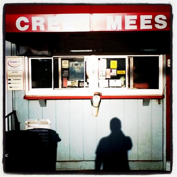 Even Mr. Shadow wants a creamee! #silhouette #btv #milton #ice-cream