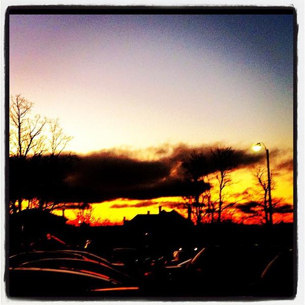 End of Day! #sunset #btv #vt #uvm