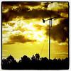 Windmill spins against #BTV sunset.