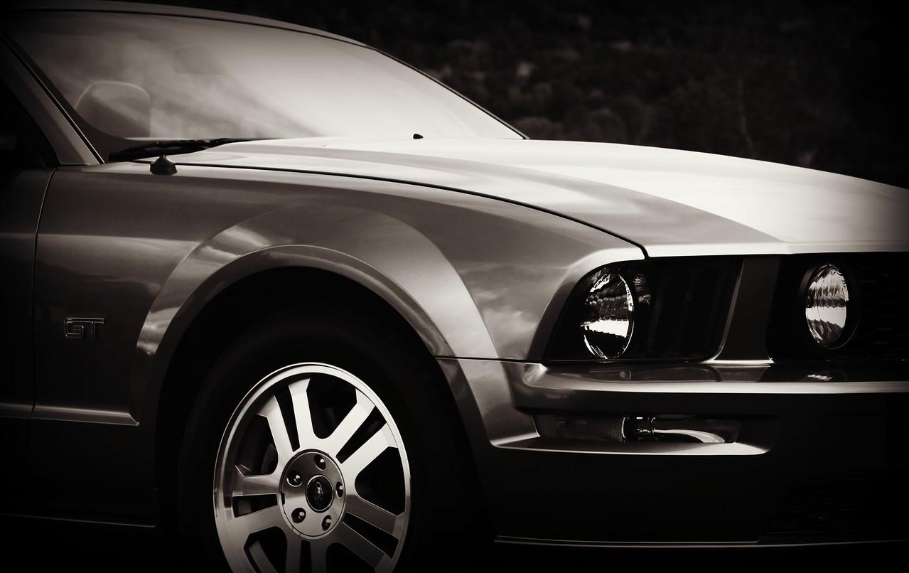 A clasic American musle car...