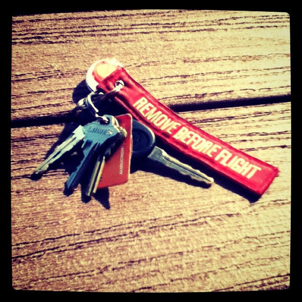 Remove before flight. Roger that!