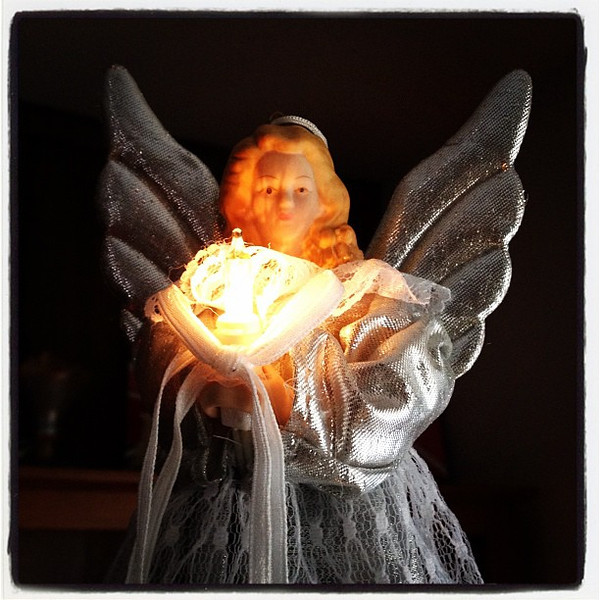 Our Angel Christmas Tree Topper.
