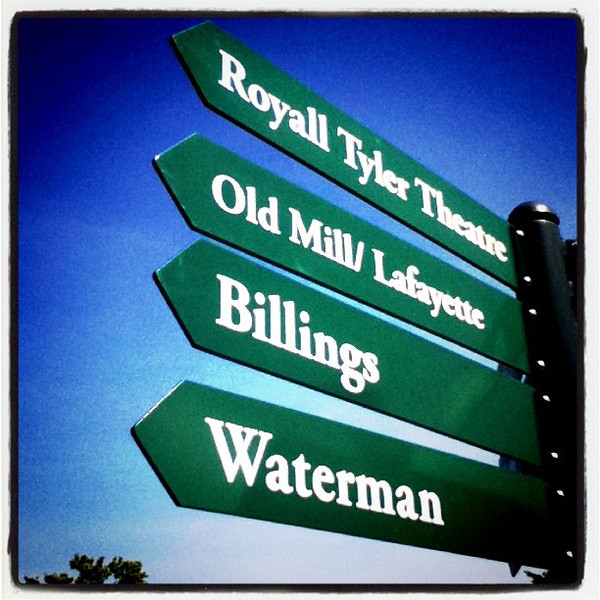 All five this way! #uvm #btv #signs