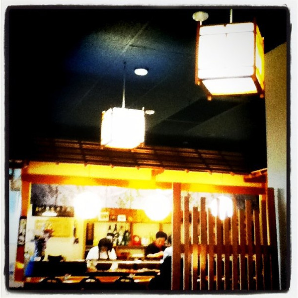 Sushi joint in #Redmond WA. Honestly, it wasn't very good. #sushi #fish #raw #food