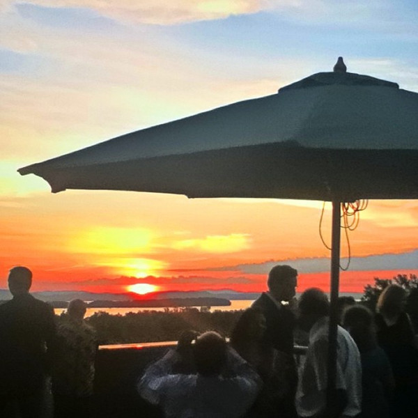 A nice touch for a #wedding reception. #btv #VT #sunset