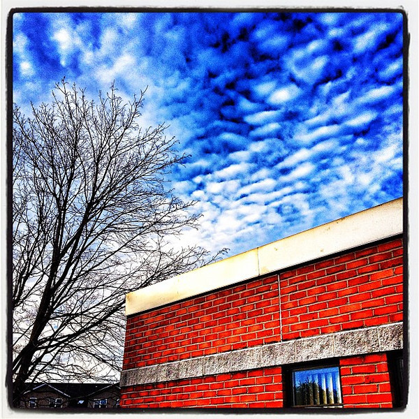Clouds and Bricks! #btv #vt