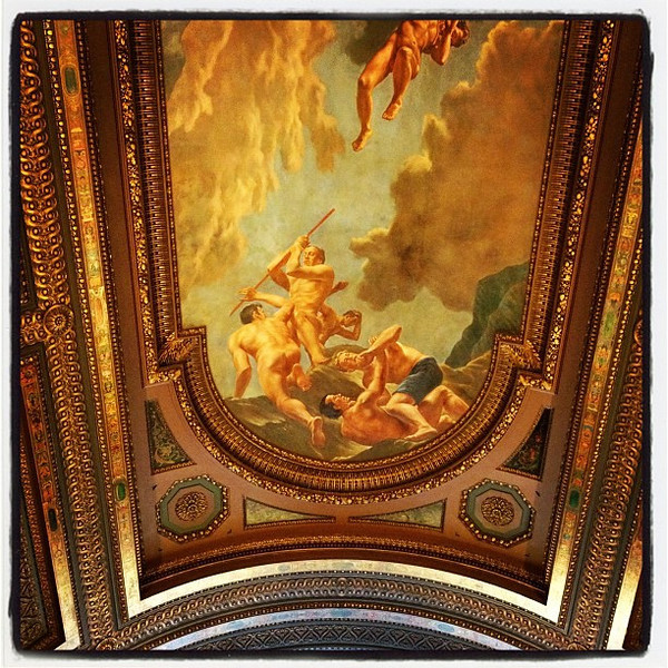 Stunning ceiling at the New York Public Library. #nyc #library
