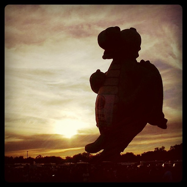 A monster of a hotair balloon! #btv