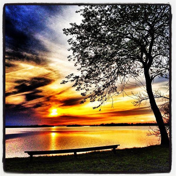 Great spot for peace. #btv #vt #sunset