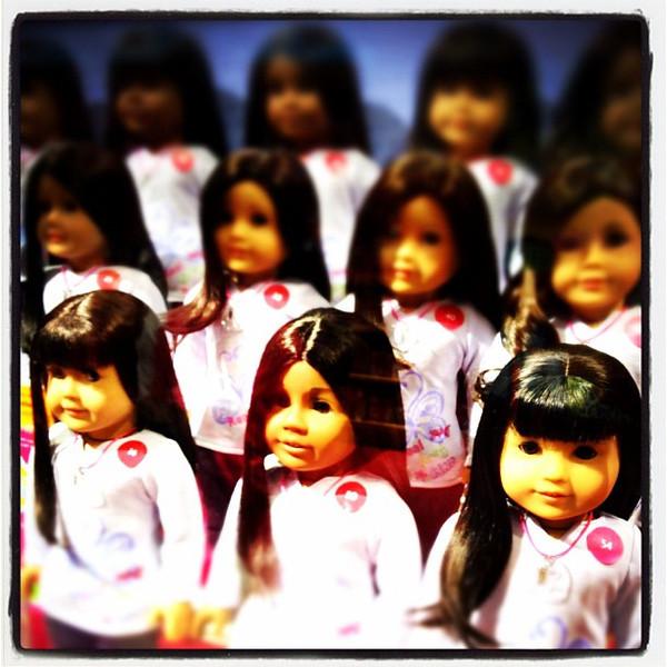 American Girls! #nyc #dolls #americangirl