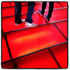 The red stairs of Times Square. #nyc #timessquare