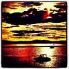 Red is stylish. #btv #vt #sunset