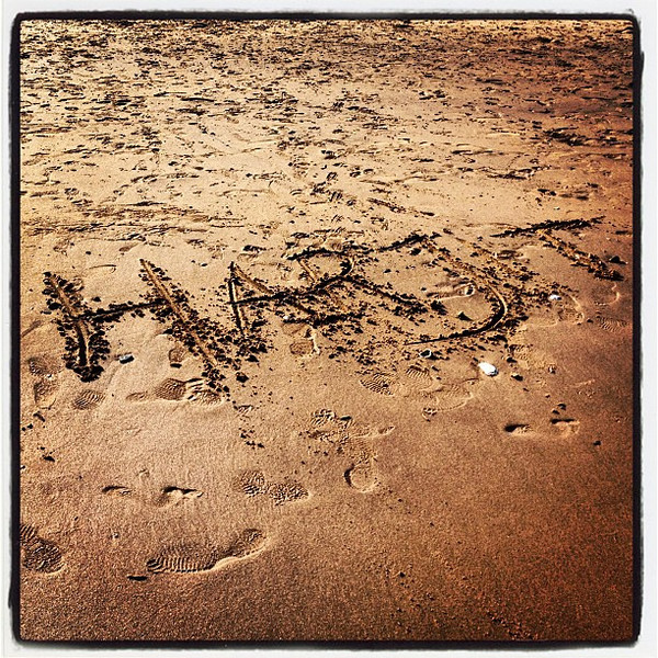 Just a cool name in the sand! #westhaven #ct