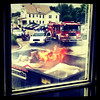 Nice view from this office window! #fire #btv #UVM #firetruck #police