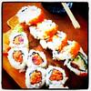 #Sushi rolls. #tuna #salmon #Japanese #raw #food