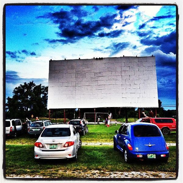 My first time at the drive-in movies - ever! #stalbans #vt
