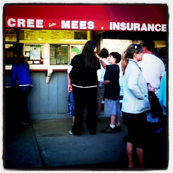 Hmmm.....Get the insurance before you get the creemee! LOL! #ice-cream #creemee #btv #Milton