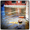 To get around the #building, hop 1-2-3! #btv #VT #flood #water