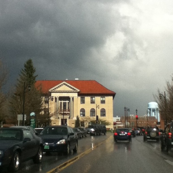 The storm is coming! No filter used. #UVM #btv #VT #weather