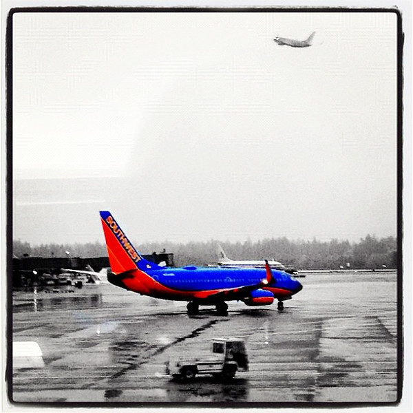 """""""Southwest you are cleared to taxi""""! #seatac"""
