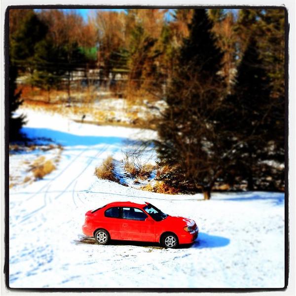 Tiny Red Car.