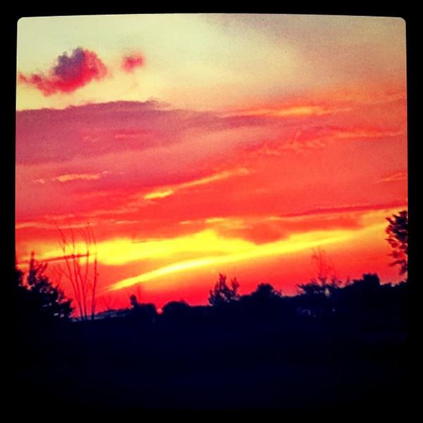 Red Sunset in #Milton #VT.
