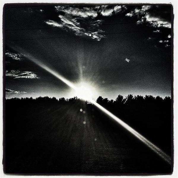 Monochrome Sunrise. #btv #vt #miltonvt