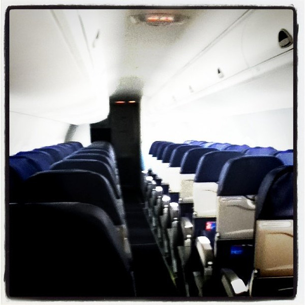 Where's everyone? On-board #ewr to #btv flight with only 6 passengers! #aircraft #plane #aviation #turboprop