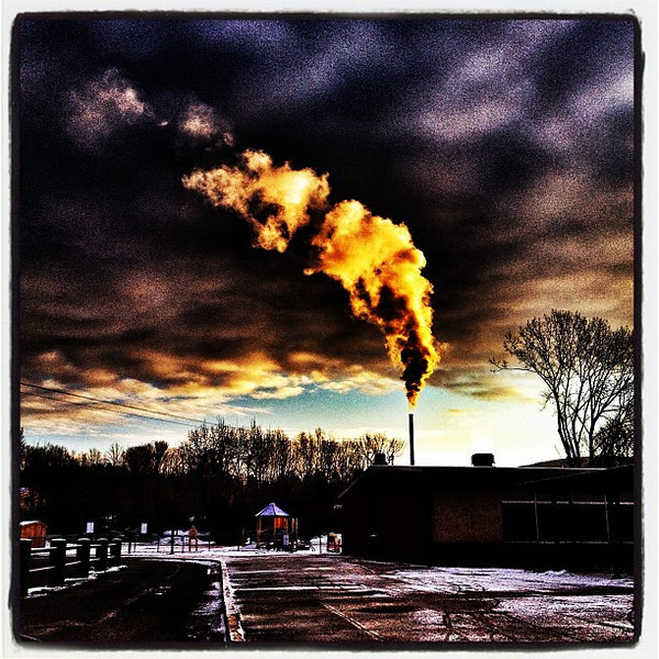 Smoky all the way! #milton #btv #vt